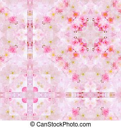 Pink Wallpaper Pattern - A completely seamless pattern that...