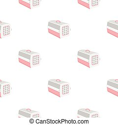 Cat house icon in pattern style isolated on white background. Cat symbol stock vector illustration.