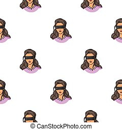 Hostage icon in pattern style isolated on white background....