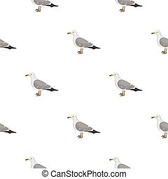 Crow icon in pattern style isolated on white background....