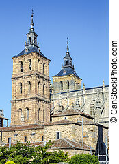 Cathedral of Astorga Spain - Facade of the Cathedral of...