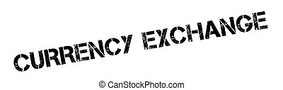 Currency Exchange rubber stamp. Grunge design with dust...
