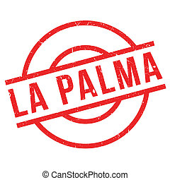 La Palma rubber stamp. Grunge design with dust scratches....
