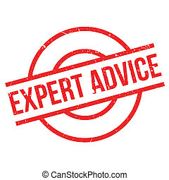 Expert Advice rubber stamp. Grunge design with dust...