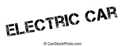 Electric Car rubber stamp. Grunge design with dust...