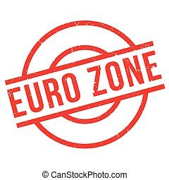 Euro Zone rubber stamp. Grunge design with dust scratches....