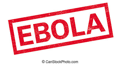 Ebola rubber stamp. Grunge design with dust scratches....
