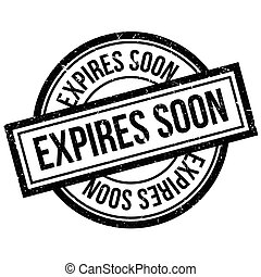 Expires Soon rubber stamp. Grunge design with dust...