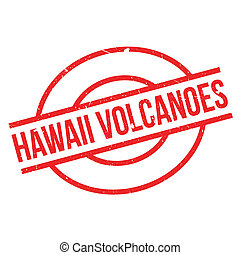 Hawaii Volcanoes rubber stamp. Grunge design with dust...