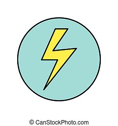 Lightning Icon Vector Illustration in Flat Design -...