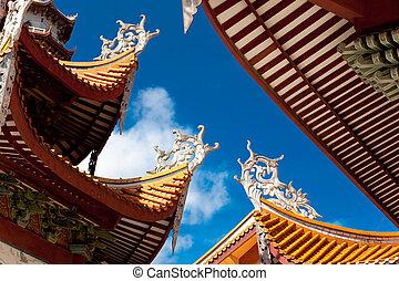 Chińczyk, okap, świątynia