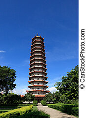 Chinese pagoda - Chinese Pagoda of Xichan temple in...