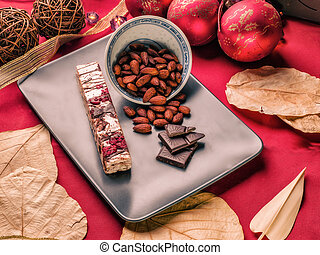 Nougat - A nougat or turròn or torrone is a typical sweet...