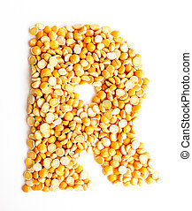 The Letter R. - The peas Initials letter R.