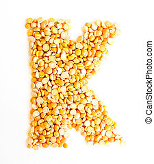 The Letter K. - The peas Initials letter K.