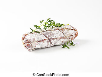French Saucisson Sec - Short French dry cured sausage
