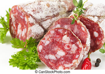 French Saucisson Sec - dry cured sausage