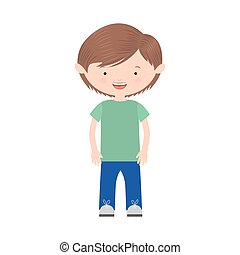 young boy with informal suit vector illustration vector...