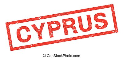 Cyprus rubber stamp. Grunge design with dust scratches....