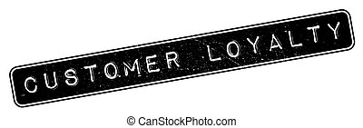 Customer Loyalty rubber stamp. Grunge design with dust...