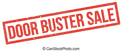 Door Buster Sale rubber stamp. Grunge design with dust...