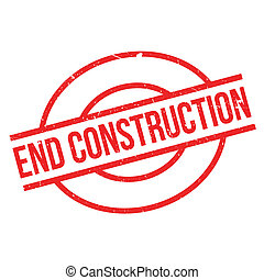 End Construction rubber stamp. Grunge design with dust...