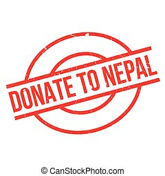 Donate To Nepal rubber stamp. Grunge design with dust...