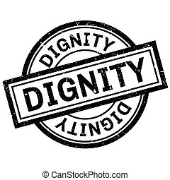 Dignity rubber stamp. Grunge design with dust scratches....