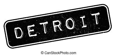 Detroit rubber stamp. Grunge design with dust scratches....