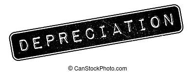 Depreciation rubber stamp. Grunge design with dust...