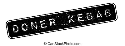 Doner Kebab rubber stamp. Grunge design with dust scratches