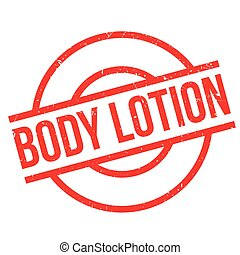 Body Lotion rubber stamp