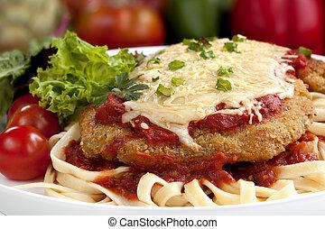 Weiner Schnitzel - Weiner schnitzel topped with a rich...