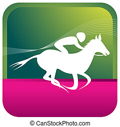 jockey riding on a horse