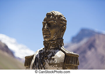 General San Martin at the Aconcagua National Park, Argentina...