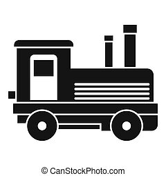Locomotive icon, simple style - Locomotive icon. Simple...