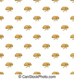 Flea pattern, cartoon style - Flea pattern. Cartoon...