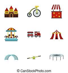 Swing icons set, flat style - Swing icons set. Flat...