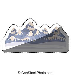 Isolated winter mountain design