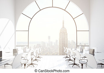 Coworking office with NY view - Contemporary coworking...