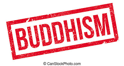 Buddhism rubber stamp