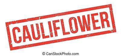 Cauliflower rubber stamp. Grunge design with dust scratches....