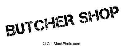 Butcher Shop rubber stamp