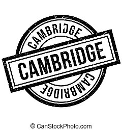 Cambridge rubber stamp. Grunge design with dust scratches....