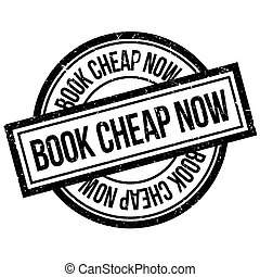 Book Cheap Now rubber stamp. Grunge design with dust...