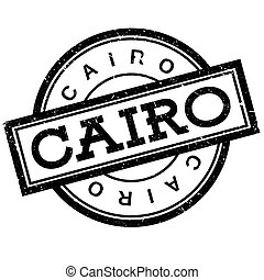 Cairo rubber stamp. Grunge design with dust scratches....