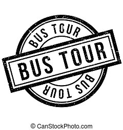 Bus Tour rubber stamp