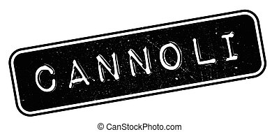 Cannoli rubber stamp. Grunge design with dust scratches....