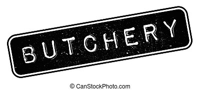 Butchery rubber stamp. Grunge design with dust scratches....