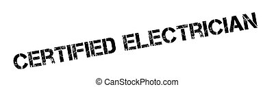 Certified Electrician rubber stamp